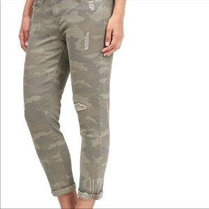 7 For All Mankind Army Camo Skinny Easy Fit Jeans